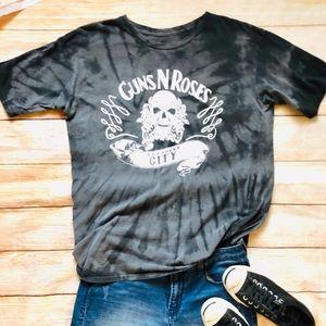 Tops - Vintage Guns N Roses Tie Dye Graphic Band Tee Sz L